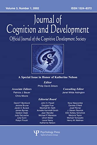 9780805896787: A Special Issue in Honor of Katherine Nelson: A Special Issue of journal of Cognition and Development (Special Issue of Journal of Cognition & Development)