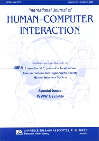 9780805897517: Www Usability: A Special Issue of the international Journal of Human-computer Interaction (International Journey of Human-Computer Interaction)