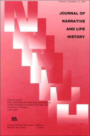 9780805898651: Oral Versions of Personal Experience: Three Decades of Narrative Analysis. A Special Issue of the journal of Narrative and Life History: 7