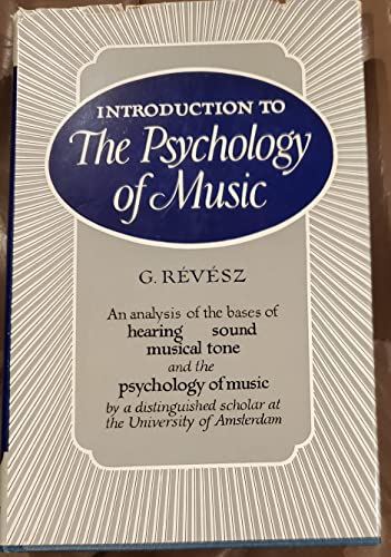 9780806102894: Introduction to Psychology of Music