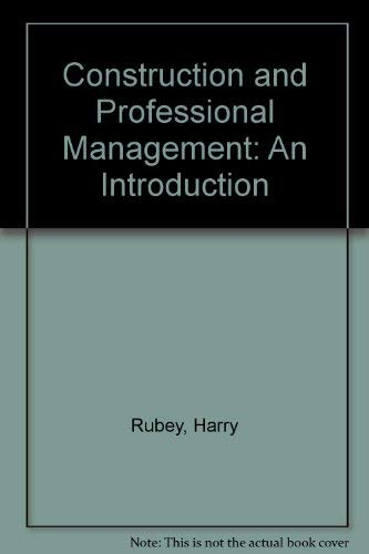 9780806109558: Construction and Professional Management an Introduction