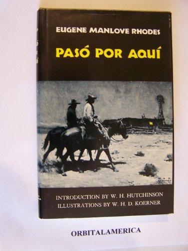 9780806110790: Paso Por Aqui ( Western Frontier Library)
