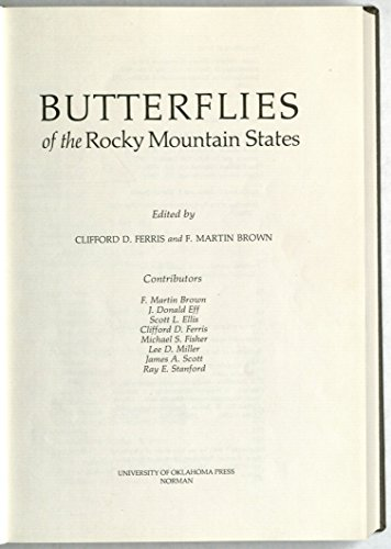 9780806115528 Butterflies Of The Rocky Mountain States Abebooks