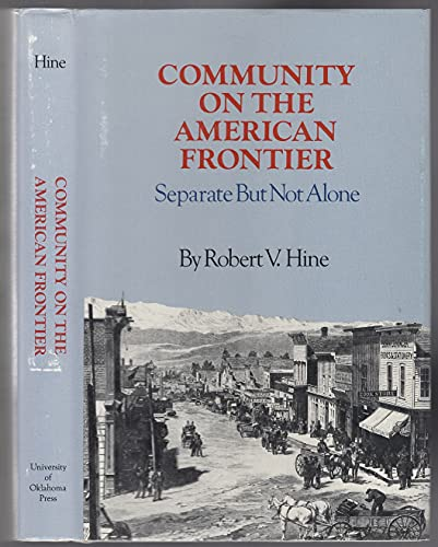 9780806116785: Community on the American Frontier: Separate but Not Alone