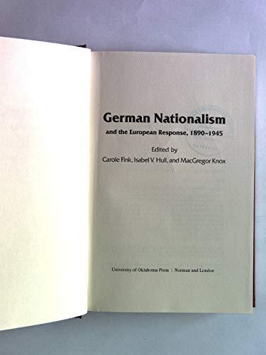 9780806119465: German Nationalism and the European Response, 1890-1945