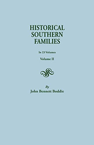 9780806300283: Historical Southern Families (Volume II)