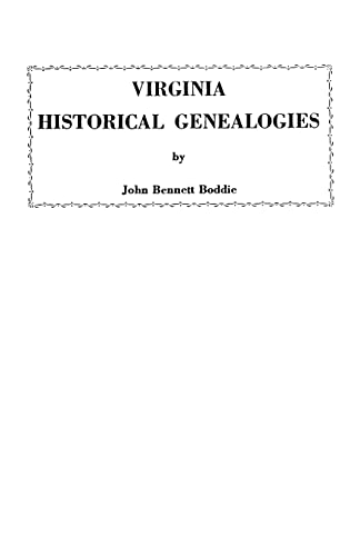 9780806300429: Virginia Historical Genealogies
