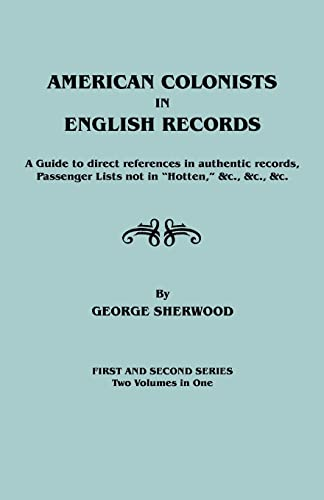 American Colonists in English Records: Sherwood, George