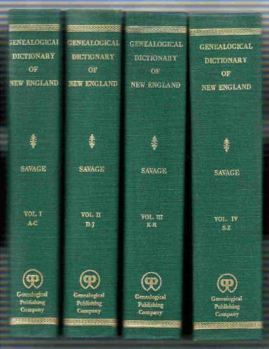 9780806307596: A Genealogical Dictionary of the First Settlers of New England 3rd Edition 4 vols.