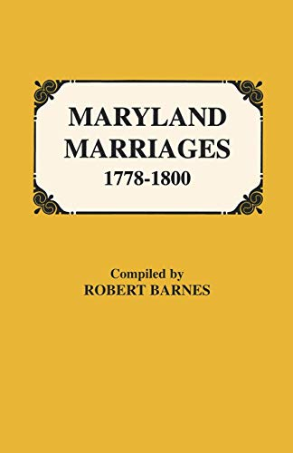 Maryland Marriages 1778-1800: Barnes, Robert William