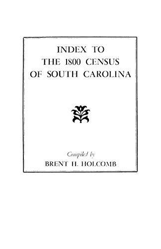 9780806308845: Index to the 1800 Census of South Carolina