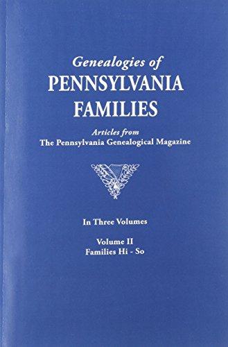 Genealogies of Pennsylvania Families from The Pennsylvania: Yoder, Don (intro.)