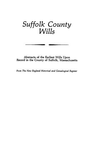 9780806310695: Suffolk County Wills