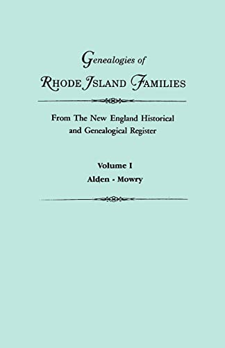 Genealogies of Rhode Island Families from The: Roberts, Gary Boyd