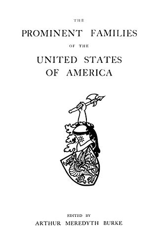 9780806313085: The Prominent Families of the United States of America