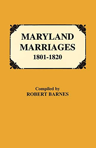 Maryland Marriages 1801-1820: Barnes, Robert William