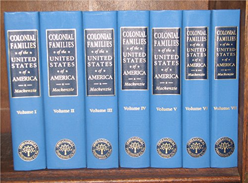 9780806314532: Colonial Families of the United States of America 7 vols