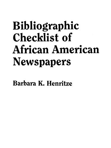 9780806314570: Bibliographic Checklist of African American Newspapers