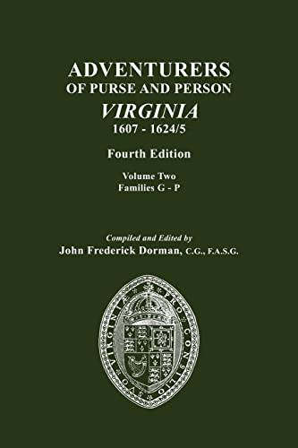 Adventurers Of Purse And Person Virginia 1607 1624 By John