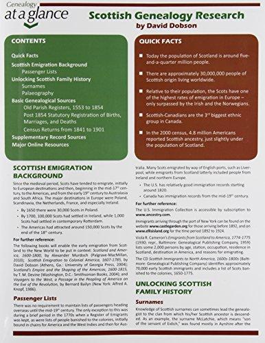 9780806318738: Scottish Genealogy Research (Genealogy at a Glance)