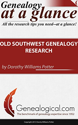 9780806319711: Genealogy at a Glance: Old Southwest Genealogy Research