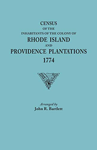 9780806348056: Census of the Inhabitants of the Colony of Rhode Island and Providence Plantations, 1774