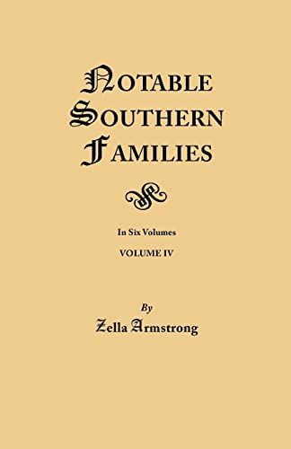 9780806348902: Notable Southern Families, Volume IV (#164)