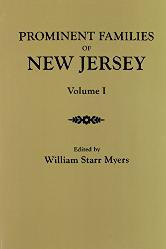 9780806350363: Prominent Families of New Jersey. In Two Volumes. Volume I