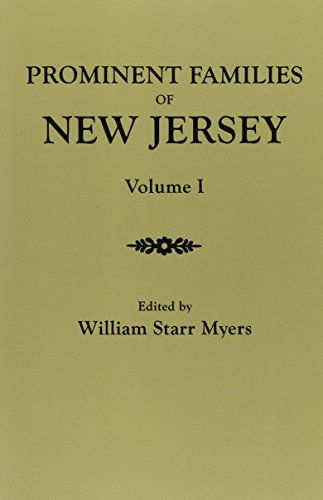 9780806350370: Prominent Families of New Jersey. in Two Volumes. Volume I