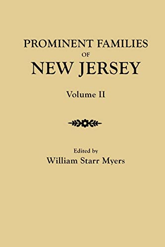 9780806350387: Prominent Families of New Jersey. In Two Volumes. Volume II