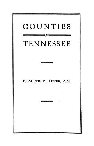 9780806350615: Counties of Tennessee