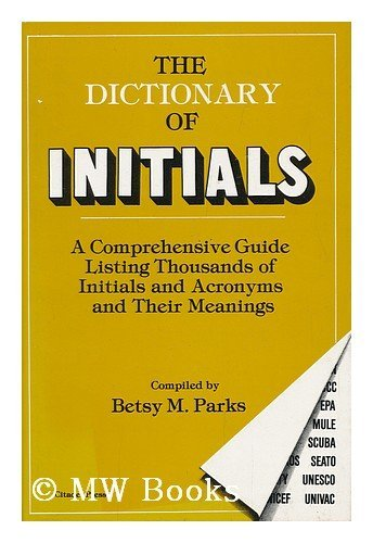 The Dictionary of Initials: Parks, Betsy M.
