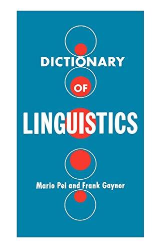 9780806529349: Dictionary of Linguistics