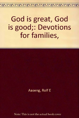 9780806612003: God is great, God is good;: Devotions for families,