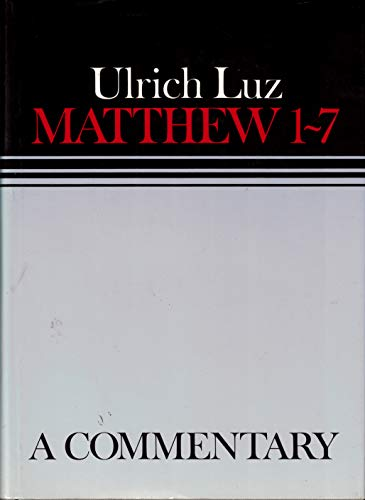 9780806624020: Matthew 1-7: a commentary