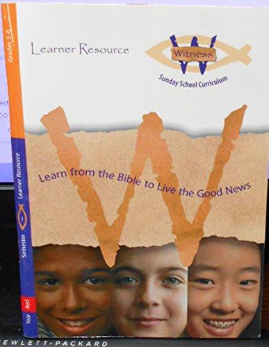9780806647159: Witness Sunday School Curriculum (Gr 5/6; Red; Semester 1)