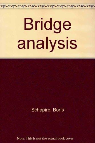 9780806949284: Bridge analysis