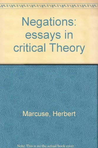 9780807015520: Negations: Essays in Critical Theory.