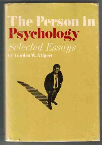 9780807029763: The Person in Psychology: Selected Essays