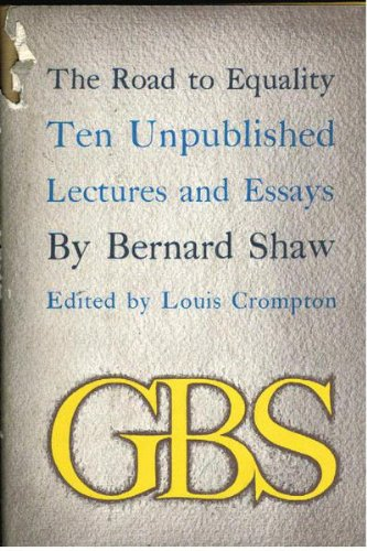 george bernard shaw first edition abebooks road to equality ten unpublished lectures and shaw george bernard