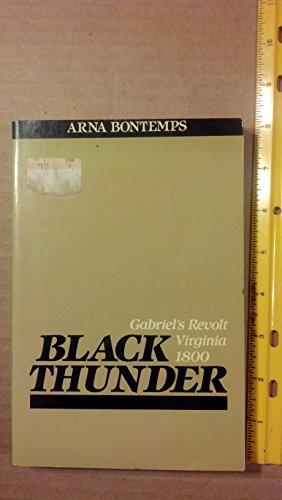 Black Thunder: Bontemps, Arna
