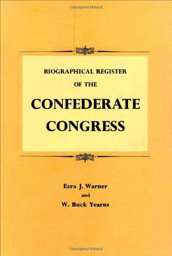 9780807100929: Biographical Register of the Confederate Congress
