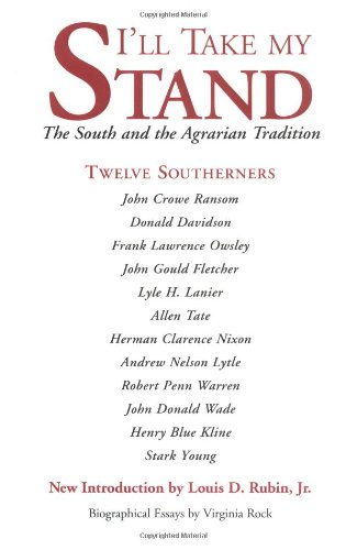 9780807103579: I'll Take My Stand: The South and the Agrarian Tradition
