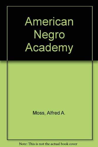 9780807107829: American Negro Academy