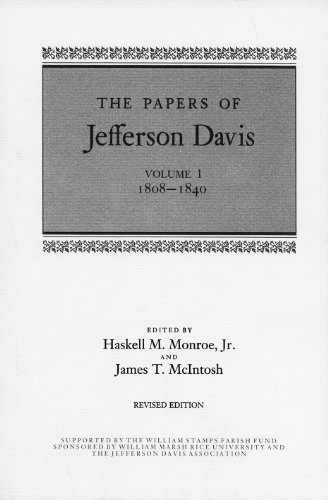 9780807109434: The Papers of Jefferson Davis, Volume 1: 1808-1840