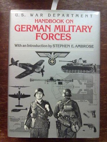 Handbook on German Military Forces: United States War