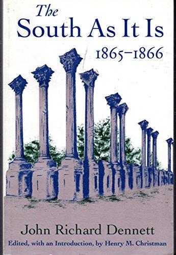 9780807119983: South as It is 1865-1866