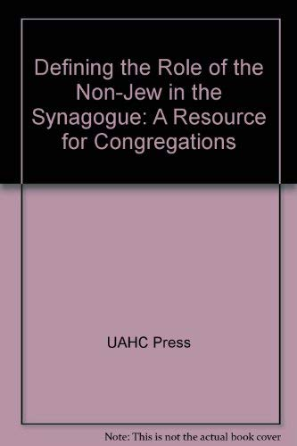 Defining the Role of the Non-Jew in: UAHC Press
