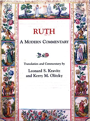 Ruth: A Modern Commentary (0807408492) by Leonard S. Kravitz; Kerry M. Olitzky