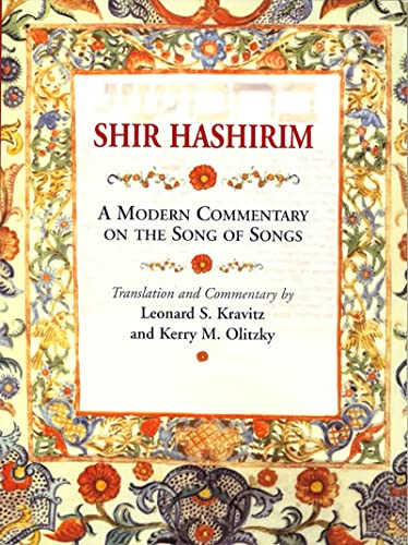 9780807408964: Shir Hashirim: A Modern Commentary on the Song of Songs